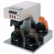 Classic Coffee Concepts GB360 Coffee Brewer, 3 Warmers, Stainless Steel, Separate On/ Off Switches