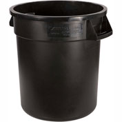 Bronco™ Round Waste Container 32 Gallon - Black 34103203 - Pkg Qty 4