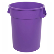 Bronco™ Round Waste Container 32 Gallon, Purple - 34103289 - Pkg Qty 4