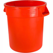 Bronco 34104424 Waste Container 44 Gallon Orange Package Count 3