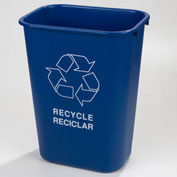 Recycle Wastebasket 41-1/4 Qt - Black - Pkg Qty 12