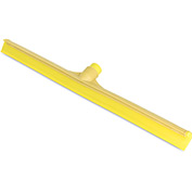 "Sparta® 24"" Plastic Frame Rubber Floor Squeegee w/ 60"" Fiberglass Handle, Yellow - 36568KIT04"