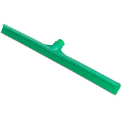 "Sparta® 24"" Plastic Frame Rubber Floor Squeegee w/ 60"" Fiberglass Handle, Green - 36568KIT09"