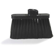 "Flo-Pac® Duo Sweep® Light Industrial Broom ( Head Only) 4"" Bristle Trim-Black - Pkg Qty 12"