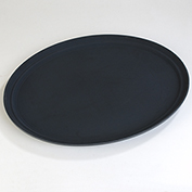 "Carlisle TB2500004 Truebasics Oval Grip Tray 25"" x 19"" - Black - Pkg Qty 12"