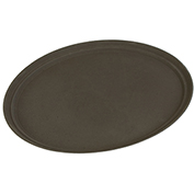 "Carlisle TB2900076 Truebasics Oval Grip Tray 29"" x 23.5"" - Toffee Tan - Pkg Qty 12"