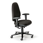 Cortech USA 24/7 Management Chair with 1A Arms- Black Staccato Fabric