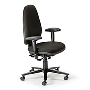 Cortech USA 24/7 Management Chair with 1A Arms- Black Interweave Fabric