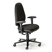 Cortech USA 24/7 Management Chair with 1A Arms- Burgundy Staccato Fabric
