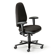 Cortech USA 24/7 Management Chair - Navy Staccato Fabric with 1A Arms