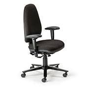Cortech USA 24/7 Management Chair with 1A Arms - Sapphire  Interweave Fabric