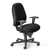 Cortech USA 24/7 76HD Task Chair with 7K Arms - Navy Staccato Fabric