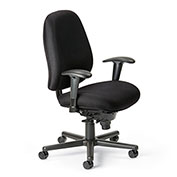 Cortech USA 24/7 76HD Task Chair with 7K Arms- Sapphire  Interweave Fabric
