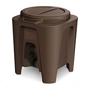 BevMax 5 Gallon Insulated Beverage Dispenser-Brown