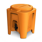 BevMax 5 Gallon Insulated Beverage Dispenser-Orange