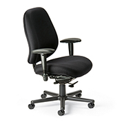 Cortech USA 24/7 Extreme HD Task Chair with 1A Arms- Black Interweave Fabric