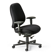 Cortech USA 24/7 Extreme HD Task Chair with 1A Arms - Navy Staccato Fabric