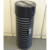 "Case Design 515 Tank Heavy Duty Shipping Case-Tube Without Wheels 10""L x 10""W x 38""H, Blk"
