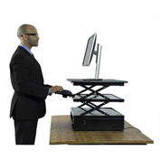 Uncaged Ergonomics CDE-B Electric CHANGEdesk - Height Adjustable Standing Desk Conversion, Black