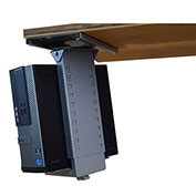 Uncaged Ergonomics Under-Desk Swivel and Slide CPU Holder - Black