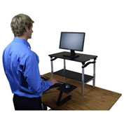 Lift Sit-Stand Desk Conversion, Black Lift w/ Black Tray