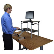 Uncaged Ergonomics LSDBS LIFT Standing Desk Conversion, Black Stand & Silver Keyboard Tray