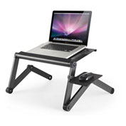 Uncaged Ergonomics WECB WorkEZ Cool Laptop Stand with Fans, USB Ports & Mouse Pad, Black