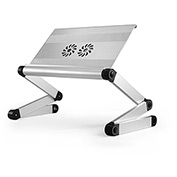 Uncaged Ergonomics WEEFHs WorkEZ Executive Laptop Cooling Stand w/ 2 Fans & USB Ports, Silver