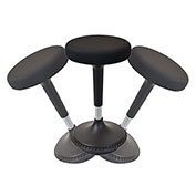 Uncaged Ergonomics Adjustable Height Wobble Stool Swivel Chair - Black