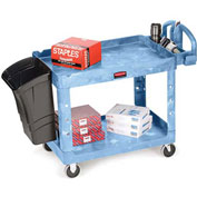 "Rubbermaid Premium Universal Shelf Carts - 30""Wx16""D Shelf - 38-1/8""H - Blue"