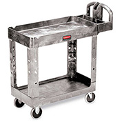 "Rubbermaid Premium Universal Shelf Carts - 36""Wx24""D Shelf - 38-1/8""H - Gray"