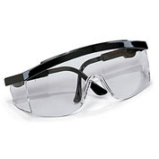 Crews Tomahawk Wraparound Glasses - Clear Lens - Black Frame