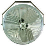 "TPI Workstation Fan - 24"" Blade Diameter - 1/8 Hp - Wall-Mount"
