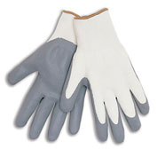 Nitrile General Purpose Work Gloves - Lint-Free Fine Nylon - Ladies - Pkg Qty 12