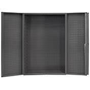 Bin Cabinet Deep Door with Louvered Panels, No Bin/Shelf 16 Ga. All-Welded Cabinet 48 x 24 x 72 Gray