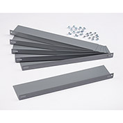 "Pocket Door Shelves  - For 36""W Bin Cabinets, 16 Ga. 17""W x 4""D, Gray - Pack of 6"