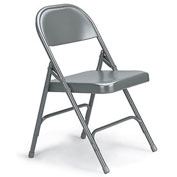 "KI 300 Series Folding Chair - 18-1/4 x 19-3/4 x 30-1/4"" - Single U-Brace - Gray"