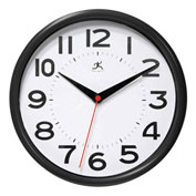 "Infinity / ITC  Metro Wall Clock - 9"" Diameter Black"