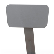 NPS Steel Backrest for 6200 and 6300 Series Stools - Gray