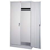 "Parent Metal Storage Cabinet - 36X24X78"" - 5 Shelves - Light Gray"