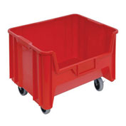 "Quantum Giant Stacking Bins - 19-7/8 X15-1/4 X15-3/4"" - Red - Pkg Qty 3"