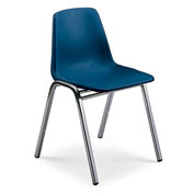 "KI Polypropylene Stack Chair - 24x27-3/4x30-3/4"" Sand"