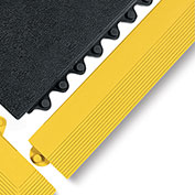 "Wearwell 3X39"" Edging For 24/Seven Mats - All-Purpose Grease Resistant Rubber - Female Edge - Black"