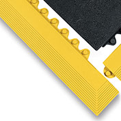 "Wearwell 3X39"" Edging For 24/Seven Mats - All-Purpose Grease Resistant Rubber - Male Edge - Yellow"