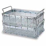 """MID-WEST WIRE Basket - 24x13-1/4 x6 - Stainless - -1/2"""" Mesh Sides and Bottom"""