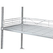 Relius Solutions Side Shelf Ledge For Open-Wire Shelving - 24""
