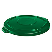 Rubbermaid Brute Flat Lid For 44-Gallon Round Containers - Green