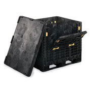 "Orbis Heavy-Duty Collapsible Bulk Containers - 48""Wx45""Lx25""H Black"