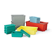 LewisBins Plexton Stack-N-Nest Lid For Fiberglass Container - Fits Container 46875,46880 - Green