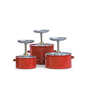 "Eagle Steel Plunger Cans - 6-1/4"" Dia.X8""H - 1-Quart Capacity"